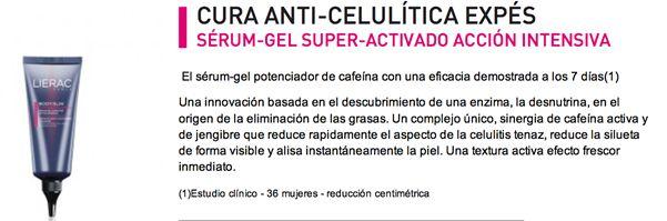 Cura anti-celulítica expés