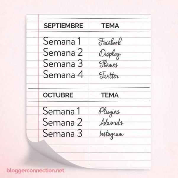 Organízate con un calendario editorial