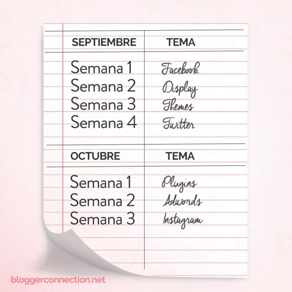 Organízate con un calendario editorial